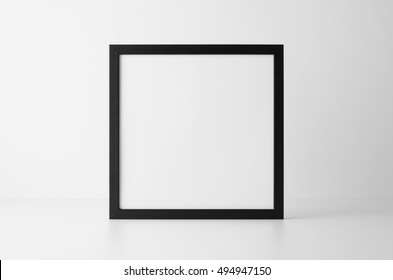 Square Black Frame Mock-Up