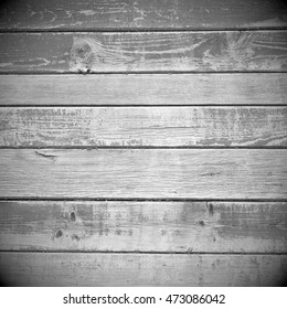square, black and white old wooden texture