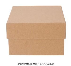 Square cardboard box closed container