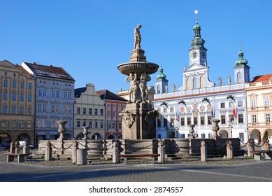 Square in Ceske Budejovice - Budweis