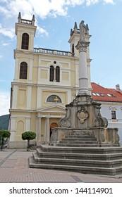 Square in city Banska Bystrica, Slovakia