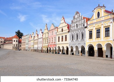 Square of city Telc, Unesco