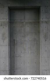 square concrete monument