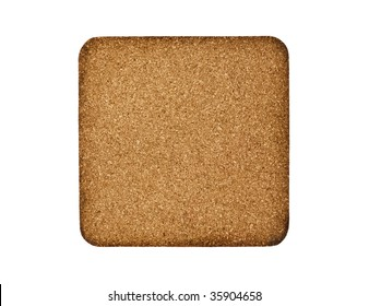 Square Cork Board Isolated On White Background