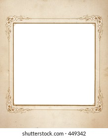 Square format Antique frame with grunge.