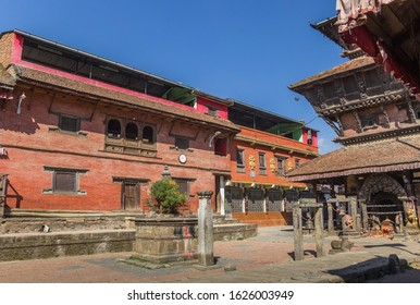 Square in front of the Bagh Bhairab temple in Kirtipur, Nepal