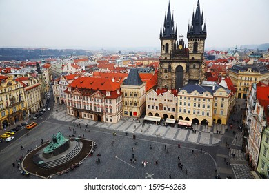 Square in front of the Church of our Lady in Prague