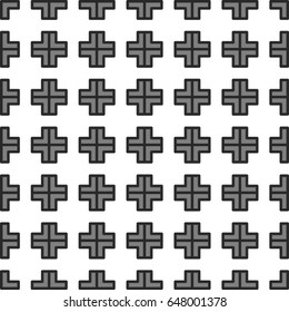 Square geometry pattern Seamless textile Fluorescent  cross with  lines