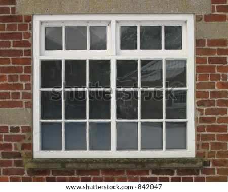 Square Georgian Window with top opening sashes