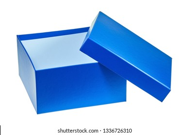 Square gift box made of colorful cardboard.