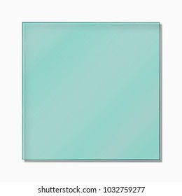 Square Glass mirror on isolated white background and texture.
