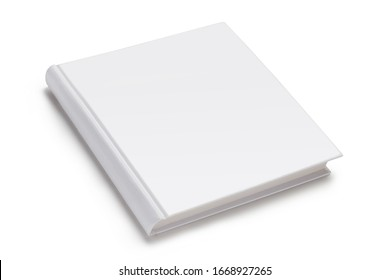 Square hardcover book or album, isolated on white background