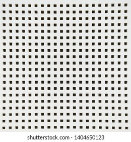 Square holes on white wall