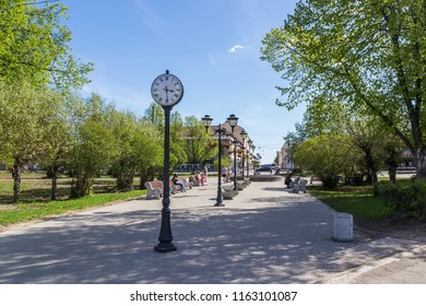 The square in the square of Kirov in the town of Sortavala, Russia