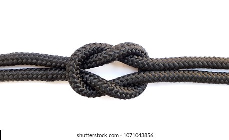 Square knot on white background