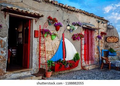 Square in Marzamemi, Sicily, Italy