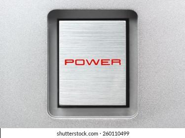 Square metal power button