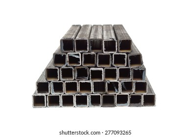 square metal tube isolated