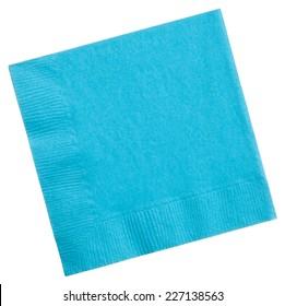Square napkin isolated on white background, close up
