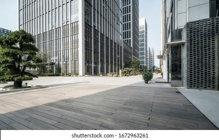 Square and office building of Jinan central business district