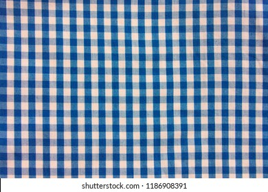 Square pattern fabric background. Scott chintz fabric for design. Plaid cotton texture. top view.
