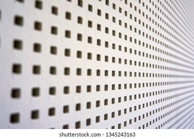 square perforated sound barrier