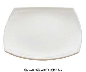 square plate isolated on white