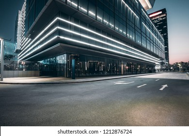 The square platform of urban modern building business office area. - Shutterstock ID 1212876724