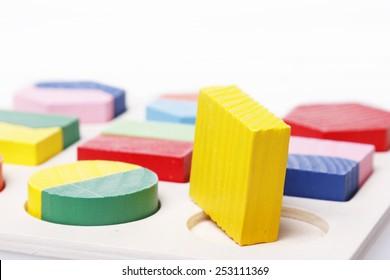 Square puzzle peg round hole