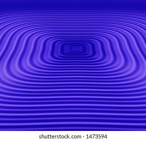 square ripples on blue