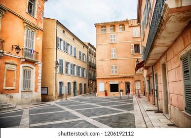 square in San Tropez, Cote dAzur, France