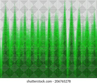 Square shape green pattern background