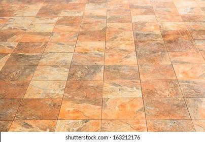 Square stone brick floor