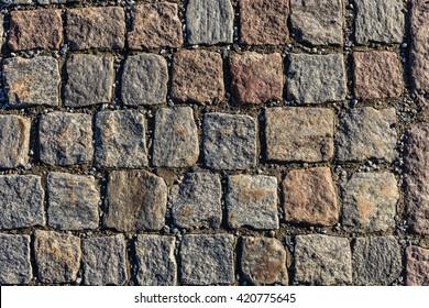 Square Stone pavement ground texture pattern