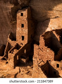 Square Tower House at Mesa Verde National Park in Mesa Verde, Colorado