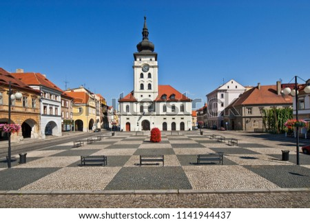 Square in town of Zatec. Czech Republic.