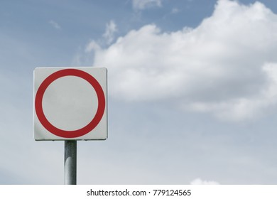 Square Traffic Sign with copy space on the right