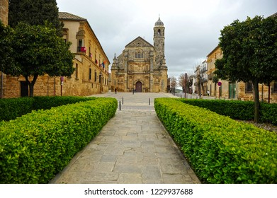 Square of Vazquez de Molina and Chapel of the Divine Savior (Capilla del Divino Salvador) in Ubeda. Renaissance city in the province of Jaén. World heritage site by Unesco. Andalusia, Spain