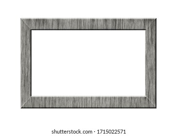 square vintage frame isolated on white background - for paintings, mirrors, photos