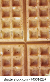 Square waffle textured background