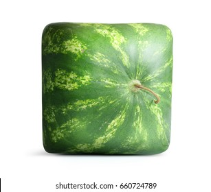 Square Watermelon on white background.
