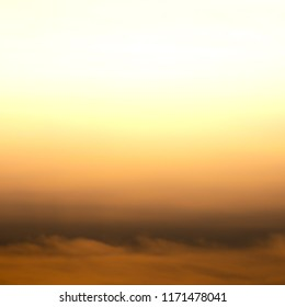 Squared image of beautiful sunset sky. Gradient colors.