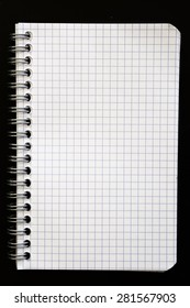 squared paper spiral notebook. Background