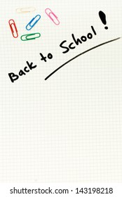 Squared paper white blank back to school