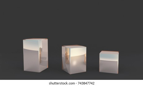 squares stand for window display by 3D rendering