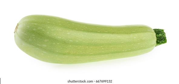 Squash vegetable marrow zucchini isolated on white background