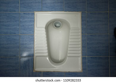 Squat toilet in Iran