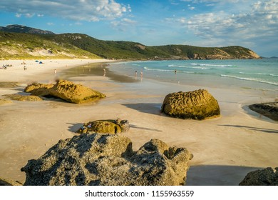 Squeaky beach at sunset in Wilsons Promontory national park