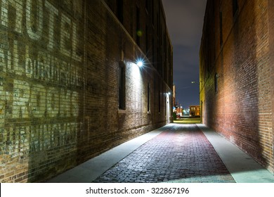 Squeaky-clean alley, Old Town, Wichita, Kansas.