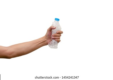 Squeeze the bottle before discarding the trash, reducing space.